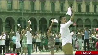 Marinera en Italia: peruanos contaron cómo realizaron espectacular Flash mob