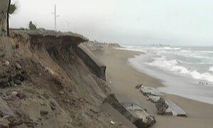 VES: muros del malecón de Costa Verde Sur se cayeron por fuerte oleaje
