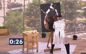 VIDEO: hombre crea espectacular obra de arte en tan solo 90 segundos