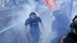 Brasil: se registraron múltiples protestas horas antes de la final del Mundial