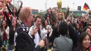 Carnaval teutón en Lima: hinchas celebraron a lo grande su triunfo en Brasil 2014