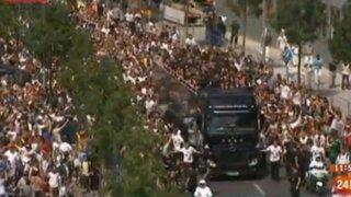 Euforia en Alemania: miles de hinchas recibieron a los campeones del mundo