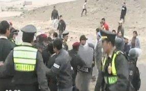 Huaura: Policía y pobladores se enfrentaron por corte de servicio eléctrico