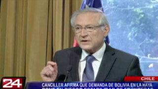 Chile: demanda boliviana ante La Haya pondría en riesgo estabilidad de fronteras