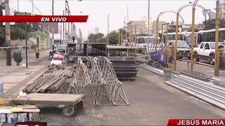 Cierran avenida Brasil por instalación de tribunas para Gran Parada Militar