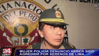 Mujer policía fue golpeada por serenos de la Municipalidad de Lima