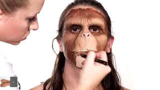 Mira la increíble transformación de hombre a mono en solo tres minutos