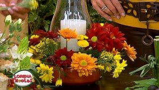 Lorena y Nicolasa: sepa cómo hacer arreglos florales con velas