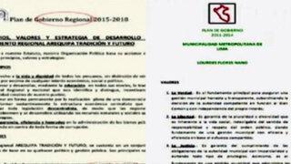 Candidatos a la alcaldía en provincias copiaron planes de gobierno: