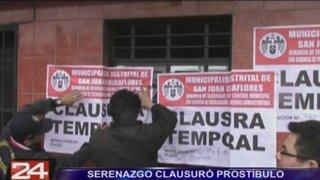 Clausuran prostíbulo clandestino en San Juan de Miraflores