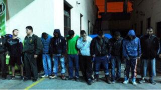 Callao: Policía Nacional capturo a 18 delincuentes que asaltaban camiones en marcha