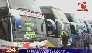 Yerbateros: precios de pasajes al interior del país se encuentran estables