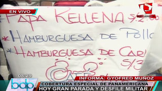 Parada Militar: vendedores de comida, ropa, dulces invaden la avenida Brasil