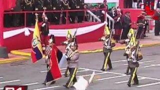 Delegaciones extranjeras se hicieron presentes en la Parada Militar