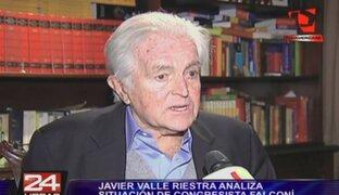 Javier Valle Riestra analiza situación de congresista Marco Falconí