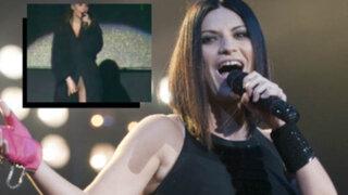 Laura Pausini: No estaba desnuda durante mi concierto en la Feria del Hogar