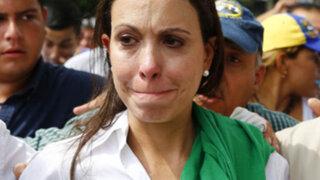 Venezuela: desconocidos intentaron golpear a exdiputada María Corina Machado