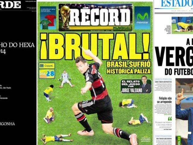 FOTOS: las portadas más impactantes un día después de la humillación de Brasil