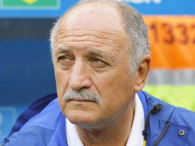 Luiz Felipe Scolari renunció como técnico de la selección brasileña