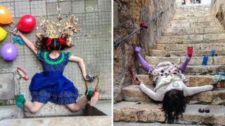 FOTOS: un fotógrafo recreó las caídas más divertidas y este fue el resultado