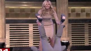 Espectáculo internacional: Heidi Klum hace volteretas en show de Jimmy Fallon