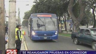 Buses azules reanudaron fase de prueba en corredor Tacna-Garcilaso-Arequipa