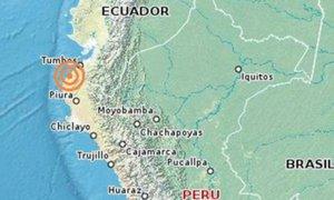Piura: reportan sismo de 5.8 grados al noroeste de Máncora