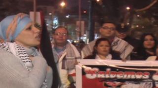 Miraflores: palestinos marcharon contra la violencia en la Franja de Gaza
