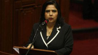 Ana Jara negó categóricamente posible candidatura presidencial en el 2016