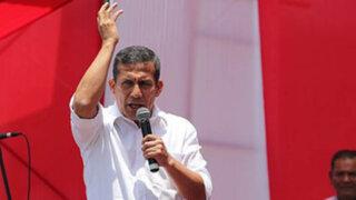 """Humala sobre encuesta del poder: """"Es un reconocimiento al trabajo de Nadine"""""""