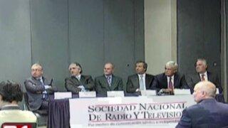 Presentan nuevo Tribunal de Ética de la Sociedad Nacional de Radio y Televisión