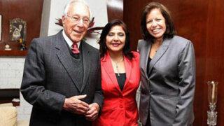 Primera Ministra Ana Jara se reunió con Luis Bedoya Reyes y Lourdes Flores