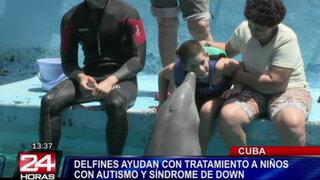 Cuba: delfines ayudan a tratar a niños con autismo y síndrome de Down