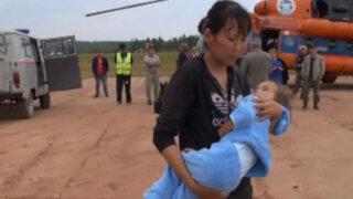 VIDEO: rescatan a niña de cuatro años perdida en un bosque de Siberia