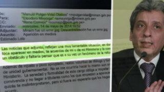 Correos que queman: más del enfrentamiento Pulgar Vidal - Mayorga