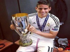 James Rodríguez celebró su primer título con el Real Madrid