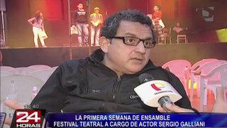 Sergio Galliani presenta festival teatral 'La primera semana de Ensamble'