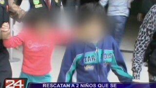 Rescatan a dos niños que se encontraban abandonados en vivienda de Lince