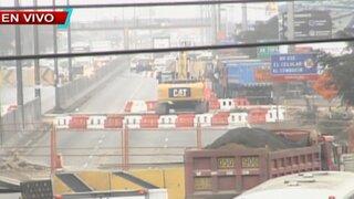 Construcción de by pass en Panamericana Norte causa malestar a peatones
