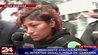 Comerciante atacó a cuchillazos a agente de Serenazgo para evitar desalojo