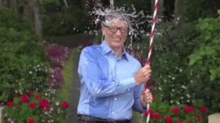 Bill Gates acepta reto de Mark Zuckerberg y se baña en agua helada