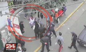Iracunda ambulante acuchilló a un policía municipal de La Victoria