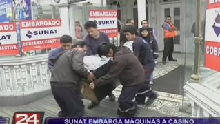 Sunat embargó máquinas tragamonedas de conocido casino de Miraflores