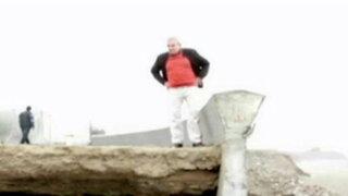 Castañeda visita obras inconclusas en playas Venecia y Barlovento