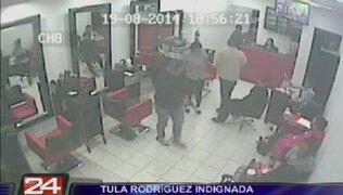 Revelan nuevas imágenes del asalto a spa de Tula Rodríguez
