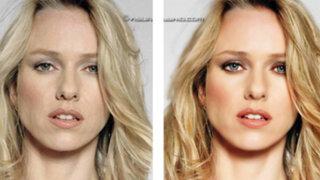 FOTOS: los asombrosos cambios de 17 celebridades con y sin  Photoshop