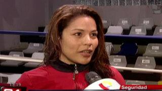 Boxeadora Linda Lecca nos recomienda tres movimientos de defensa personal