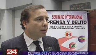 Periodistas son acosados judicialmente por acusados de corrupción