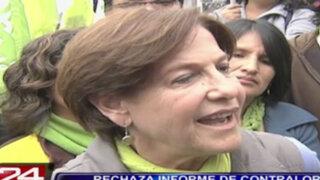 Elecciones 2014:  Susana Villarán rechaza informe de la Contraloría