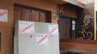 Municipalidad de Puente Piedra clausuró bares y prostíbulos clandestinos